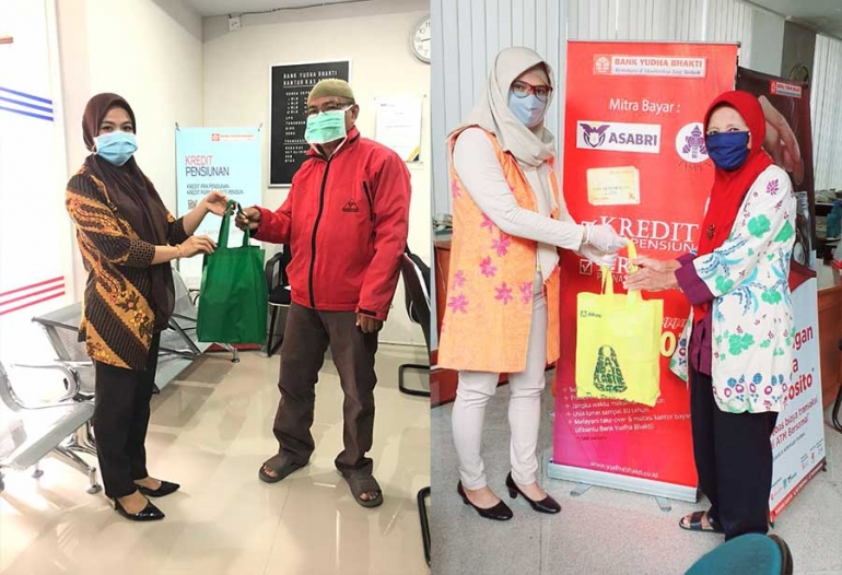 Bank Yudha Bhakti Distributes 8,040 Gifts for Retired Customers