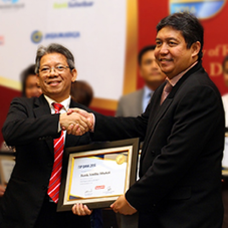 "Bank Yudha Bhakti Kembali Raih ""TOP BANK 2016 on BUKU I"""